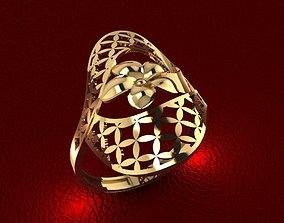 gold 3D print model RING 79