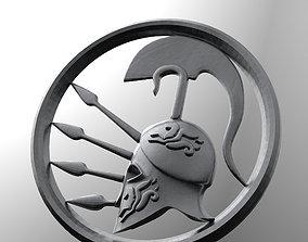 3D Pendant Spartan helmet easy