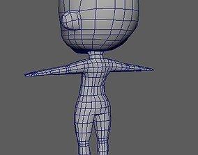 Chibi Basemesh 3D model low-poly