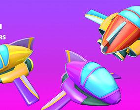 Jet Low Poly Cartoon 3D asset