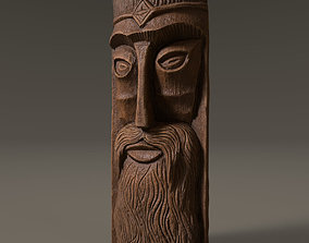 Face made of wood 3D model