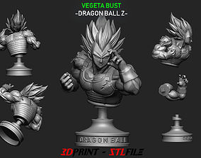 Vegeta Bust - dragonball Z 3D print model