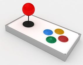 arcade joystick 3D model