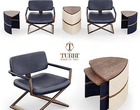 Turri Lowpoly Madison Collection 3D asset