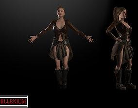 Luiza amazon girl 3D model