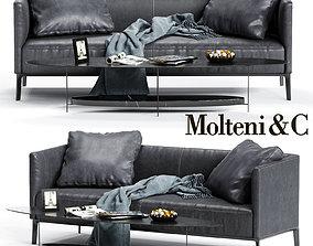Molteni CAMDEN Low Backrest Sofa 3D model