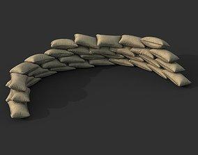 Low poly Sandbag 05 3D model