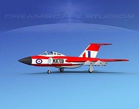 Gloster F-9 Javelin V02 3D model
