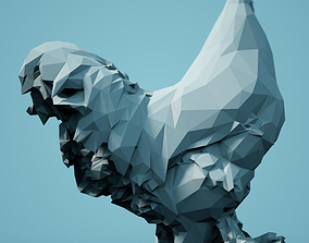 Low Poly Rooster Model animals