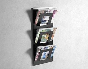 3D Triple Tier Magazine Rack place