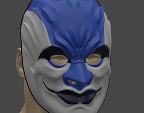 Sydney of PayDay2 mask 3D print model helmet