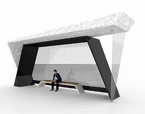 BUS STATION 8 3D model