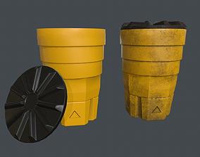 Crash Barrel PBR Game Ready 3D model