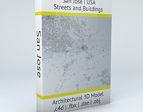 San Jose Streets and Buildings 3D model