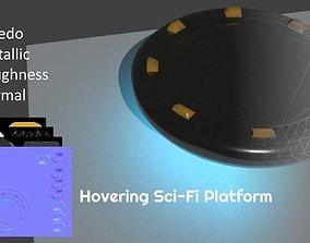 Hovering Sci-Fi Platform 3D asset