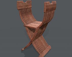 Medieval Folding Chair 3D asset