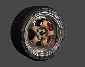 3D complete car wheel set work meister s1
