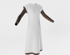 Simple Victorian Girl Dress 3D model