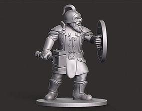 Dwarf Warrior Miniature 3D printable model