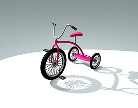 tricycle bicycles 3D model realtime