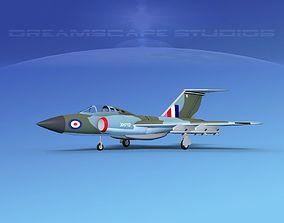 3D Gloster F-9 Javelin V01