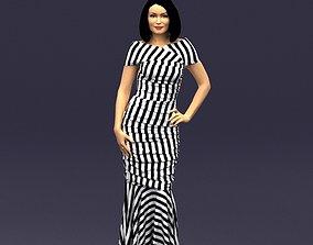 Striped woman 0395 3D Print Ready