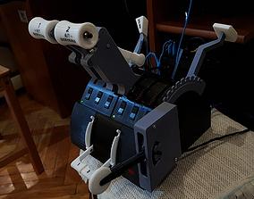 Saitek Throttle Quadrant Box With 3D printable model 3