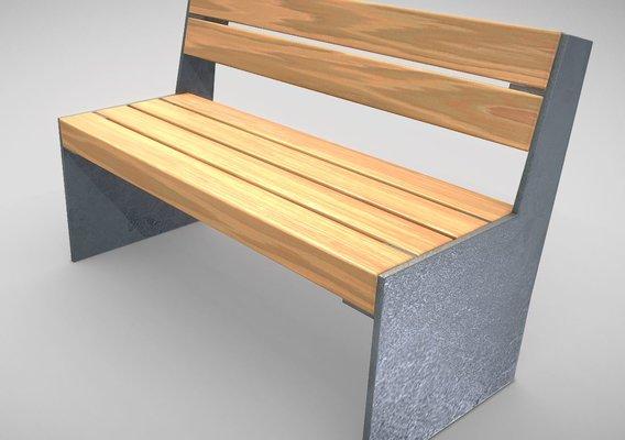 Park Bench 8 Oak Metal Frame 2