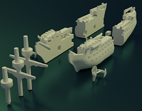 HMS Victory Sliced 3D printable model