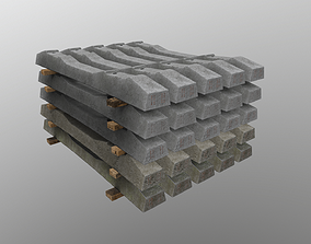 Stacked Sleepers SH-1 3D asset