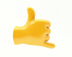 3D emoticon EMOJI HAND CALL ME ICON