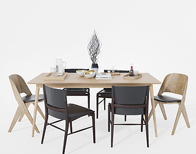 3D model Dining chair and table 4
