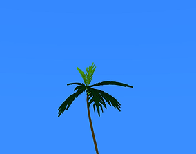 3D printable model coconut tree lowpoly