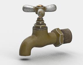 metal 3D model Old Water tap