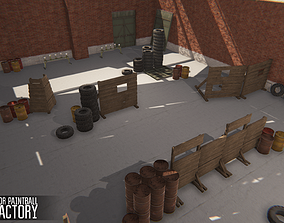 3D model Polygon for paintball - old factory
