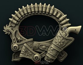 3D model Cowboy picture frame for CNC