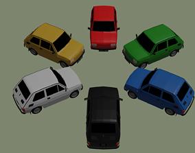 3D model low-poly Fiat 126p