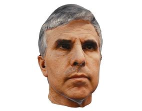 Male Head Scanned Low Poly 3D asset