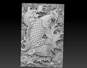 3D printable model art Jumping fish