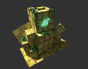 3D asset Cartoon Temple Building Kit Lite