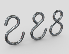 Hook Set 3D asset