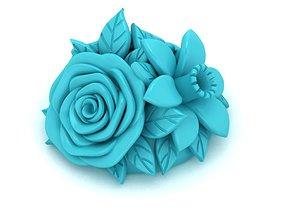 flowers bouquet earrings 3D printable model