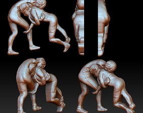 3D printable model Grapplers bas-relief