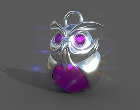 3D printable model pendant owl sculpture
