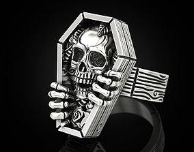 skull 3D print model Skull coffin ring