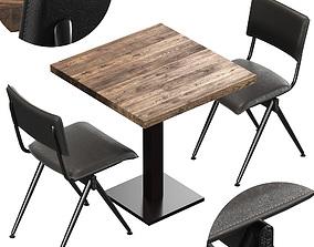 Willow Chair By Duchbone And Wood Table 3D duchbone