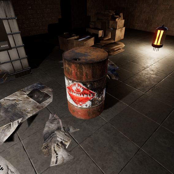 Flammable Oildrum from Half Life 2