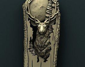 Deer 3d stl model for cnc 3D print model