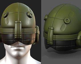 3D asset Helmet scifi military futuristic