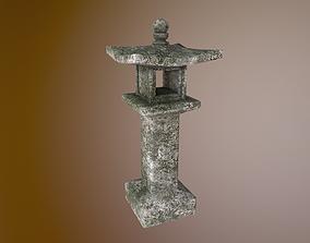 3D model Japanese stone lantern A